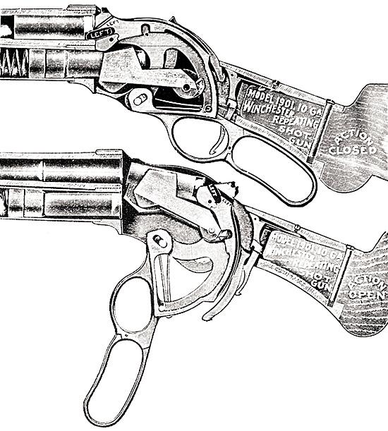 Устройство ружья крайне оригинально и совсем не похоже на дробовики  М. Браунинга. Да и среди других ружей со скобой Генри ему трудно найти аналоги.