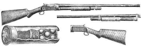 Винчестер М97, рисунок из каталога Биткова 1910 г.