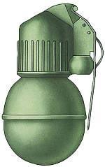 Общий вид снаряженной ручной гранаты наступательной РГН