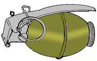 Американская ручная осколочная граната M61 (M61 Fragmentation Hand Grenade )
