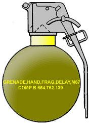 Американская ручная осколочная граната M67 (M67 Fragmentation Hand Grenade)
