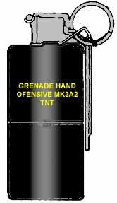 Американская наступательная фугасная ручная граната MК3А2 (MK3A2 concussion offensive hand grenade)