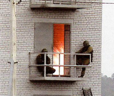 Действие светозвуковой гранаты ВГ-40СЗ в помещении
