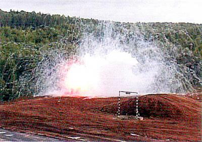 Момент срабатывания гранаты выстрела ВГ-40МД