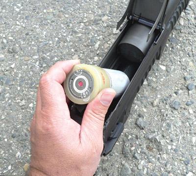 Снаряжение трубчатого магазина гранатомета ГМ-94выстрелами