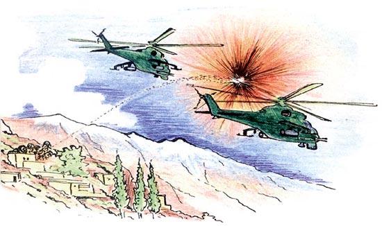 Взрывы в воздухе от самоликвидатора гранаты ПГ-7 и ракеты ПЗРК по внешнему виду идентичны