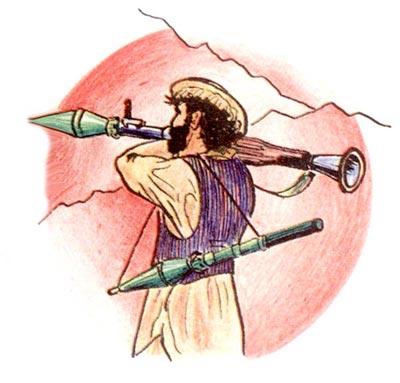 Моджахеды использовали в бою не более двух-трех гранат, предпочитая носить одну в стволе, а вторую на плече с помощью приспособления из веревочного ремня