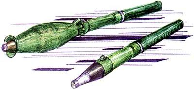 Осколочные гранаты (надкалиберная и калиберная) арабского и китайского производства