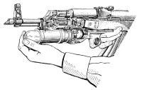 Заряжание подствольного гранатомета ГП-25 выстрелом ВОГ-25