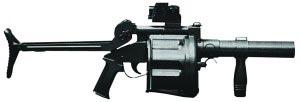 40-мм ручной гранатомет ARMSCOR MGL 6 (в боевом положении). ЮАР