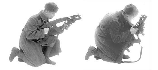 Приёмы прицеливания при стрельбе из гранатомёта «Искра», установленного на автомате