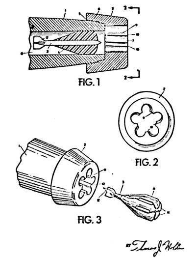 Первый патент Барра на схему выстрела со стреловидным поражающим элементом