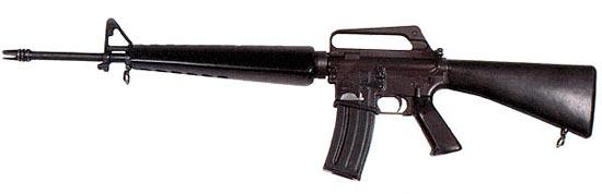 5,56-мм винтовка ХМ16Е1, принятая на вооружение армии США под обозначением М16А1
