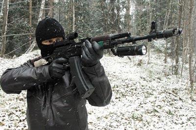 Стрельба из 5,45-мм автомата Калашникова АКС-74 с магазином емкостью 60 патронов