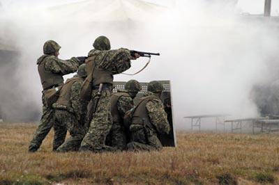 Стрельба из 23-мм ружья КС-23