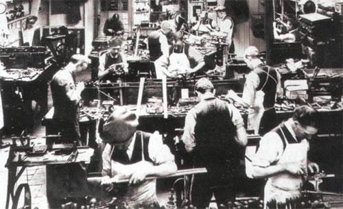Так выглядела мастерская Джона Диксона в 1930-е годы