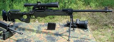 Высокоточная снайперская винтовка производства знаменитой британской фирмы Accuracy International.