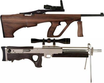 Ложи для малокалиберной винтовки Ruger 10/22, выпускаемые в США фирмой Ironwood Design, очевидным образом подражают более известным прототипам