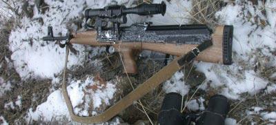Самодельная ложа типа буллпап на 7.62-мм карабине «Сайга» Вадима Спицына