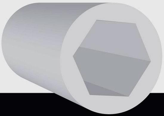 Полигональные нарезы. Полигональная нарезка – основная альтернатива традиционной. Вразное время количество граней-полигонов варьировалось от трех до нескольких десятков, но оптимальной схемой все-таки считается шестигранник. Сегодня полигональная нарезка используется в конструкции американо-израильского пистолета Desert Eagle.