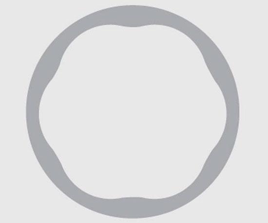 Гексагональная нарезка Бучера со скругленными углами