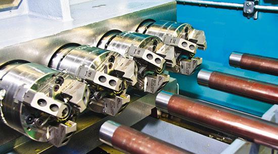Современное оборудование позволяет одновременно обробатывать четыре ствольных заготовки.