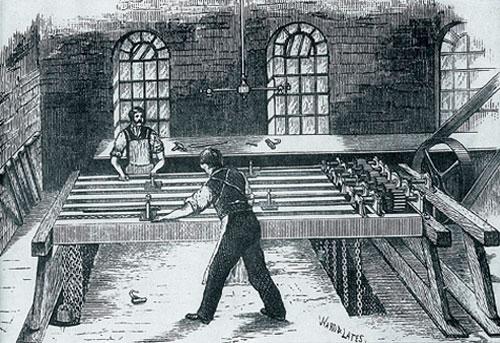Станок для одновременного сверления шести стволов. Иллюстрация из архива Владимира Тихомирова.