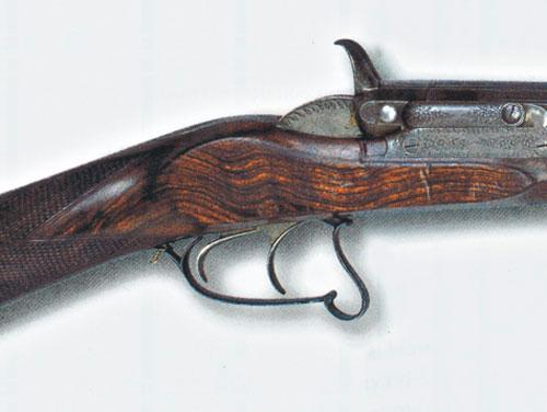 Двуствольный казнозарядный штуцер, изготовленный Тимофеем Докиным в Москве в 1860–1870 годах.