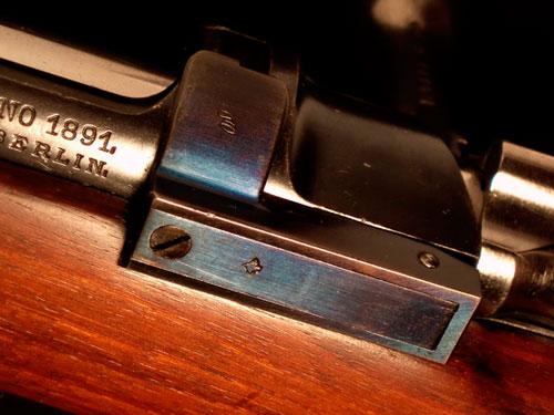 синий цвет отпуска затворной задержки винтовки Маузера обр. 1891 года