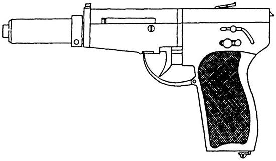 Рис.1. Внешний вид пистолета-пулемета с новой автоматикой