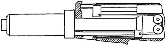 Рис. 3. Устройство возвратно-поступательного механизма с использованием тросика