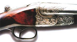 Илл 2. Выставочное ружьё «Святой Георгий» (первый вариант) с односпусковым неселективным механизмом Г. Гринера (1903 г.)