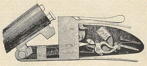 Подкладной замок на боковой доске  конструкции Перде