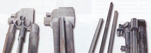Стволы и казённик соединяют и припаивают с помощью металлической планки, называемой «шиной»