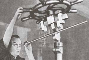 Рихтовка ствола по теневым кольцам с помощью винтового пресса