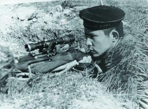 Снайпер. Севастополь. 1942 г.