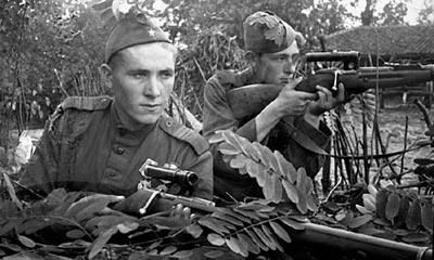 Снайперская пара. Западная Украина, лето 1944 года