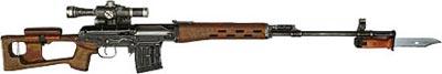 Снайперская винтовка Драгунова СВД с деревянным прикладом рамочного типа и съемной регулируемой «щекой»