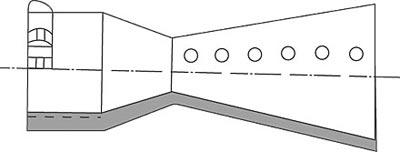 Схема дульного тормоза реактивного действия
