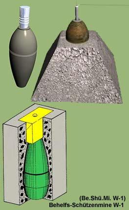 Behelfs-Schuetzenmine W-1 (Be.Shue.Mi. W-1)