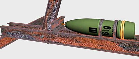 Импровизируемая противодесантная мина c натяжным взрывателем (improvisierte Nussknackermine mit Zugzuender)