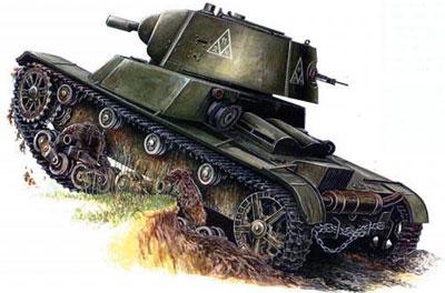 Огнеметный танк ОТ-133 на базе легкого танка Т-26 (1939 г.)