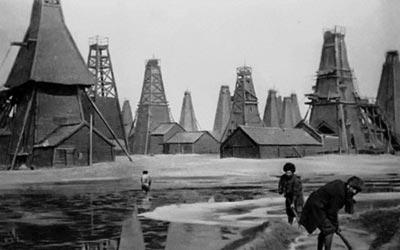 Нефтяные промыслы компании «Бранобель», г. Баку, 1900 год