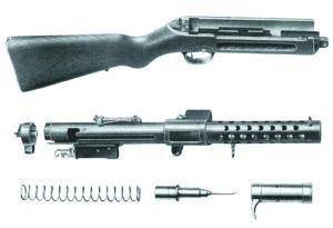 Неполная разборка пистолета-пулемета «Шмайссер» МР.28.II