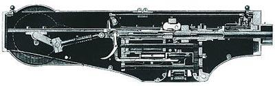 Разрез станкового пулемета «Максим» модели 1883 года
