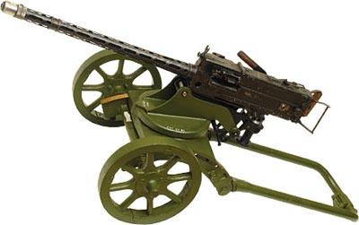 7,92-мм чехословацкий авиационный пулемет CZ-1930, переделанный советскими партизанами Белоруссии в станковый пулемет, смонтированный на колесном станке пулемета «Максим» обр. 1910 года