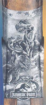 Гравировка Манрико Торколи по мотивам фильма Стивена Спилберга «Парк Юрского периода»