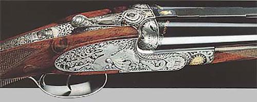 Двуствольный штуцер с обратными замками на досках. выпускается под патроны 7 mm H&H Mag, .275 H&H Mag, .300 H&H Mag, 9.3x74R, .375 H&H Mag, .465 H&H Mag, .700 N.E. Цена - от 70.000 фунтов стерлингов.