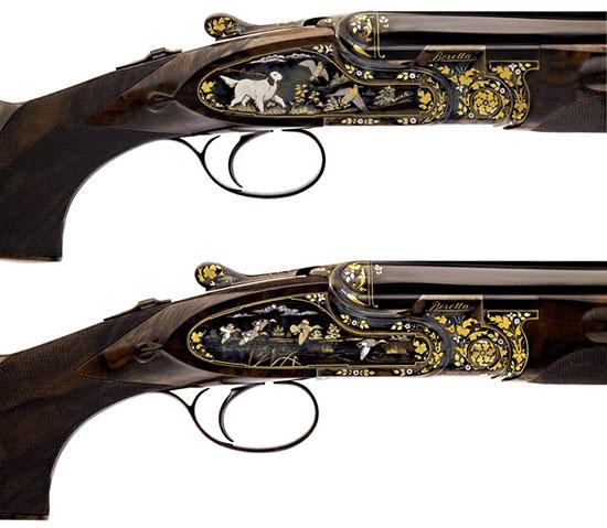 Эта пара ружей была изготовлена в ознаменование 70-летнего юбилея президента компании Уго Гусалли Беретта