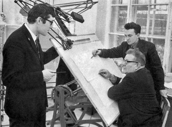 М.Е. Драгунов, А.Н. Вознесенский, Е.Ф. Драгунов, 1972 г.